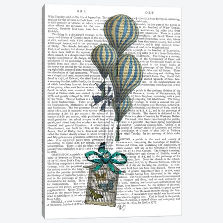 Balloon and Bird Cage 2 Canvas Print #FNK494} by Fab Funky Canvas Wall Art