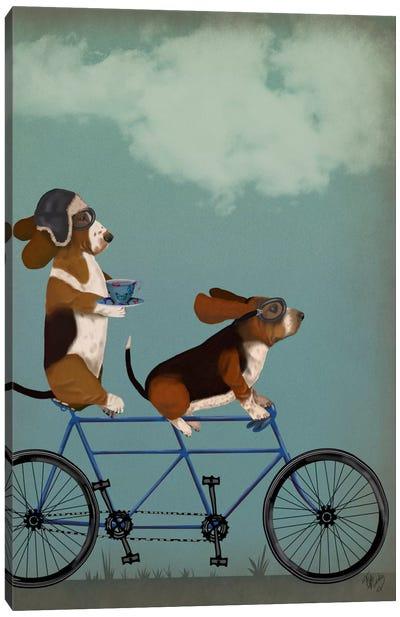 Basset Hound Tandem Canvas Art Print
