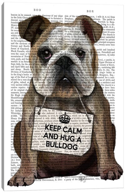 Hug A Bulldog Canvas Art Print