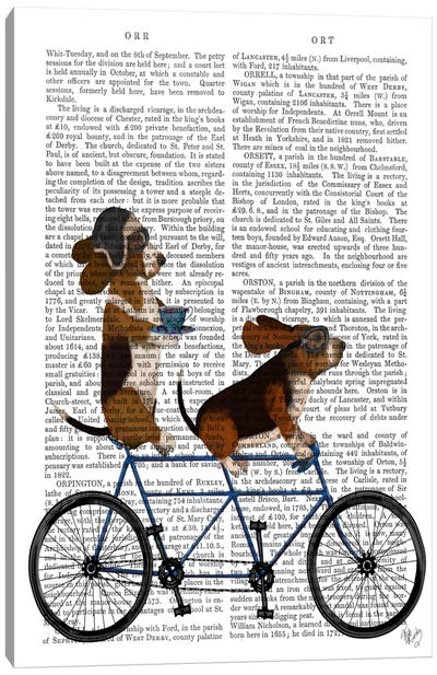 Basset Hound Tandem, Print BG Canvas Art Print