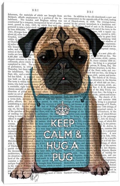 Hug A Pug Canvas Art Print