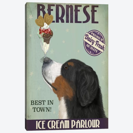 Bernese Ice Cream Parlour Canvas Print #FNK512} by Fab Funky Canvas Artwork