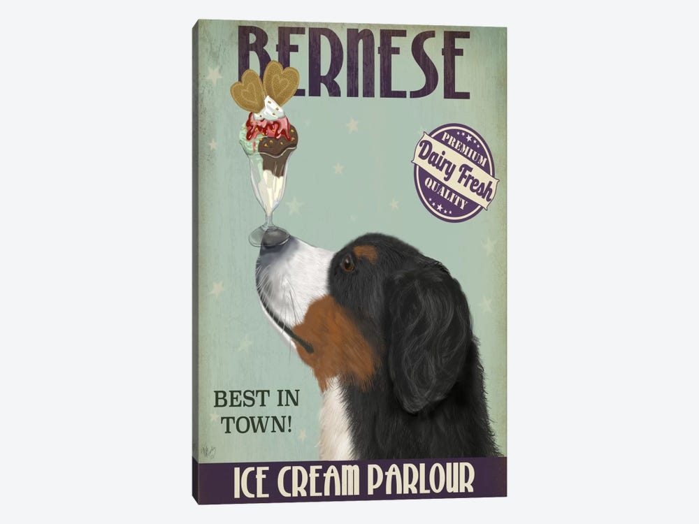 Bernese Ice Cream Parlour by Fab Funky 1-piece Canvas Print