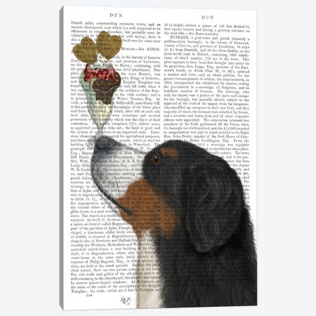 Bernese Ice Cream, Print BG Canvas Print #FNK513} by Fab Funky Canvas Art