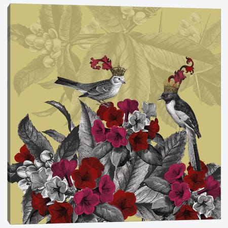 Blooming Birds, Azalea Canvas Print #FNK523} by Fab Funky Art Print