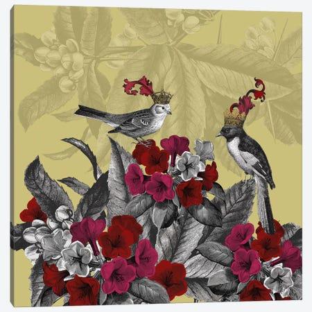 Blooming Birds, Azalea Canvas Print #FNK523} by Fab Funky Art Print