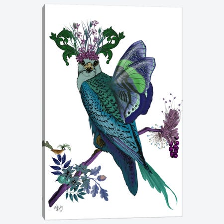 Blue Falcon Canvas Print #FNK527} by Fab Funky Canvas Art