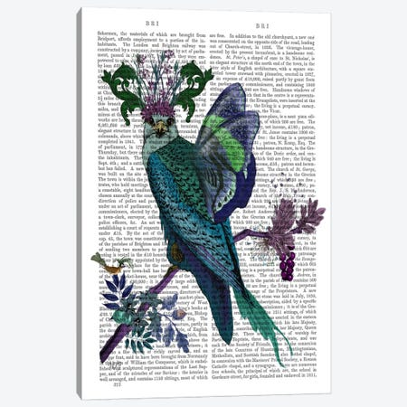 Blue Falcon, Print BG Canvas Print #FNK528} by Fab Funky Canvas Art Print
