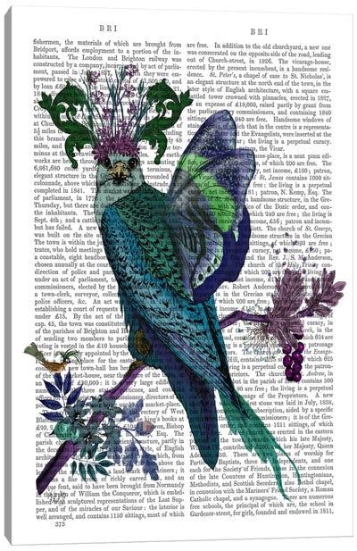 Blue Falcon, Print BG Canvas Art Print