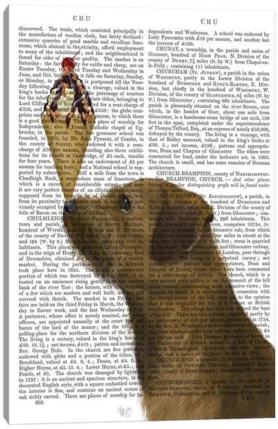 Border Terrier Ice Cream, Print BG Canvas Art Print