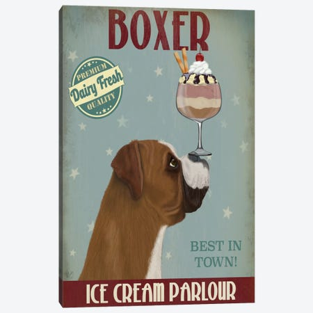 Boxer Ice Cream Parlour Canvas Print #FNK539} by Fab Funky Canvas Artwork