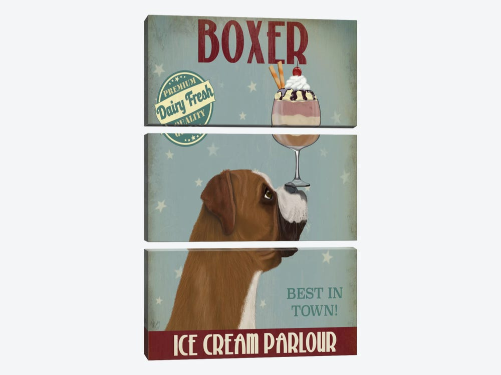 Boxer Ice Cream by Fab Funky 3-piece Canvas Art