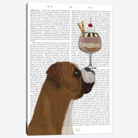 Boxer Ice Cream, Print BG Canvas Print #FNK540} by Fab Funky Canvas Print