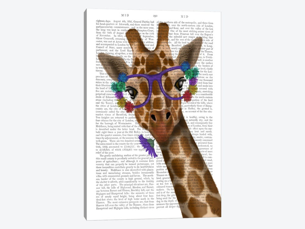 Chewing Giraffe I by Fab Funky 1-piece Canvas Artwork