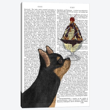 Chihuahua, Black and Ginger, Ice Cream, Print BG Canvas Print #FNK562} by Fab Funky Art Print