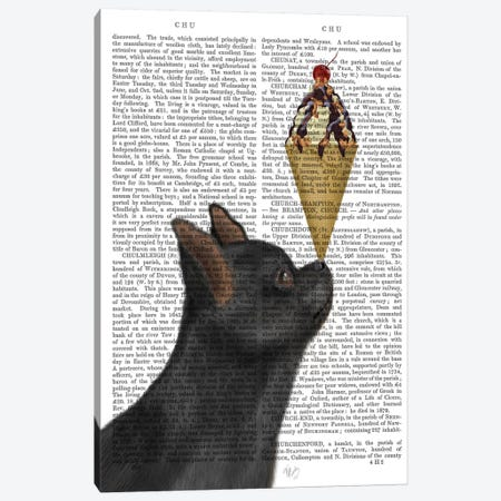 Chihuahua, Black, Ice Cream, Print BG Canvas Print #FNK564} by Fab Funky Canvas Art