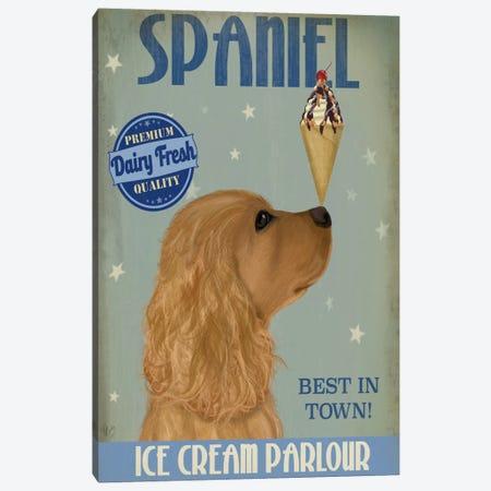 Cocker Spaniel, Golden, Ice Cream Canvas Print #FNK577} by Fab Funky Art Print