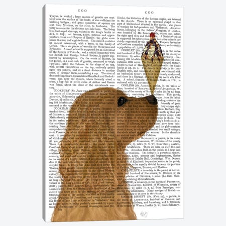 Cocker Spaniel, Golden, Ice Cream, Print BG Canvas Print #FNK578} by Fab Funky Canvas Wall Art