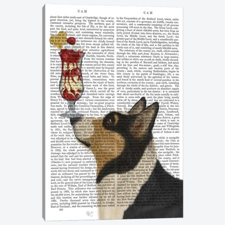 Corgi, Black and Tan, Ice Cream, Print BG Canvas Print #FNK580} by Fab Funky Canvas Print