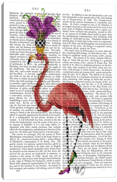 Mardi Gras Flamingo Canvas Print #FNK58