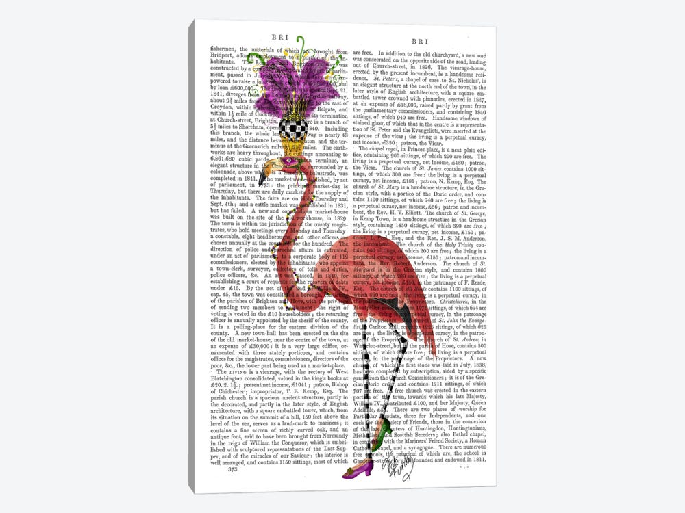 Mardi Gras Flamingo by Fab Funky 1-piece Art Print