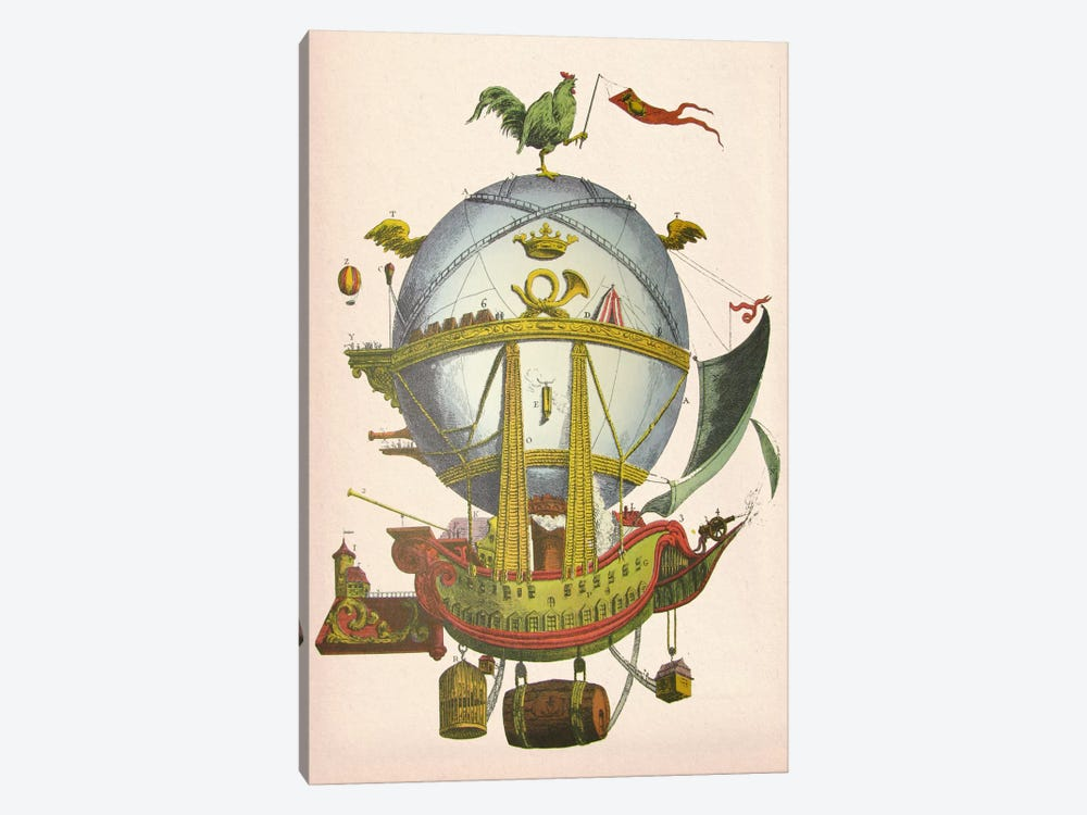 Minerve Hot Air Balloon by Fab Funky 1-piece Canvas Artwork
