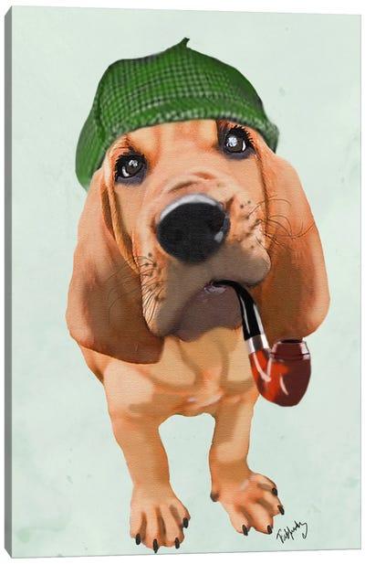 Bloodhound Sherlock Holmes Canvas Print #FNK5
