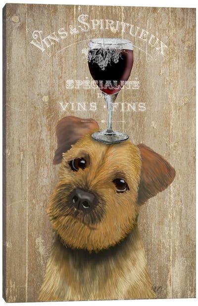 Dog Au Vin, Border Terrier Canvas Art Print