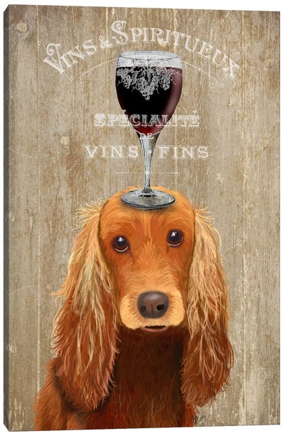 Dog Au Vin, Cocker Spaniel Canvas Art Print
