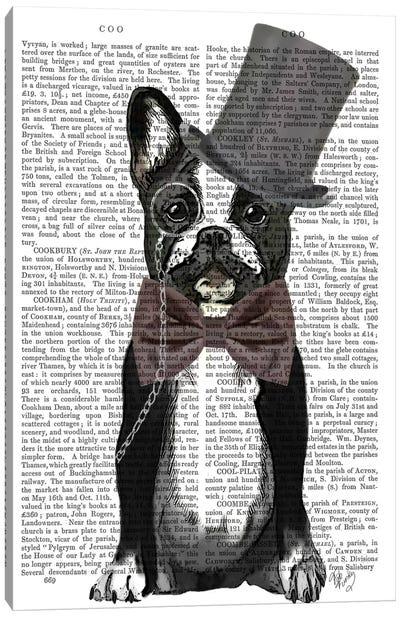Monsieur Bulldog Canvas Art Print