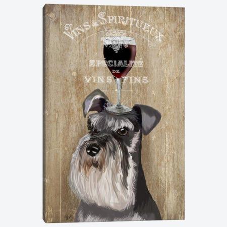 Dog Au Vin, Schnauzer Canvas Print #FNK612} by Fab Funky Canvas Print