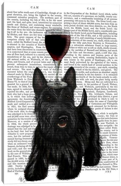 Dog Au Vin, Scottish Terrier, Print BG Canvas Art Print