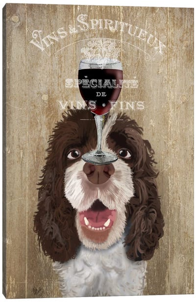 Dog Au Vin, Springer Spaniel Canvas Art Print