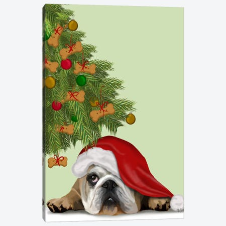 English Bulldog, Cookie Tree Canvas Print #FNK629} by Fab Funky Canvas Artwork