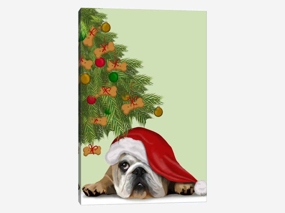 English Bulldog, Cookie Tree by Fab Funky 1-piece Canvas Art Print