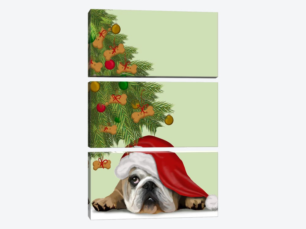 English Bulldog, Cookie Tree by Fab Funky 3-piece Canvas Art Print