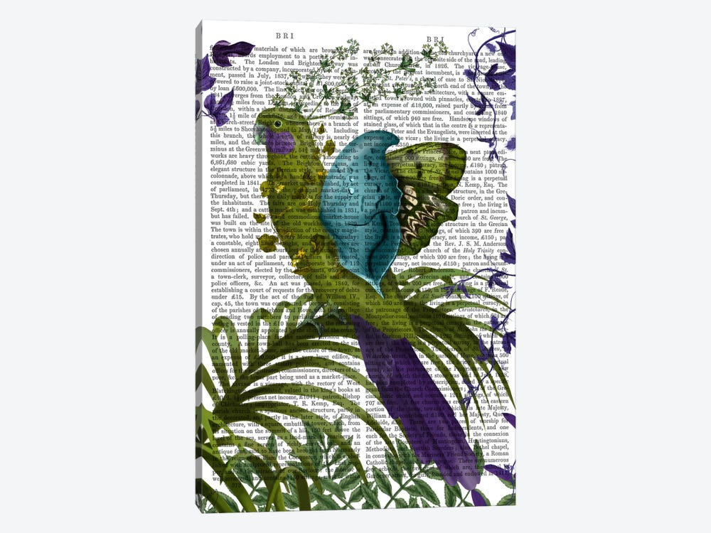 Fantasy Parrot I, Print BG by Fab Funky 1-piece Canvas Art