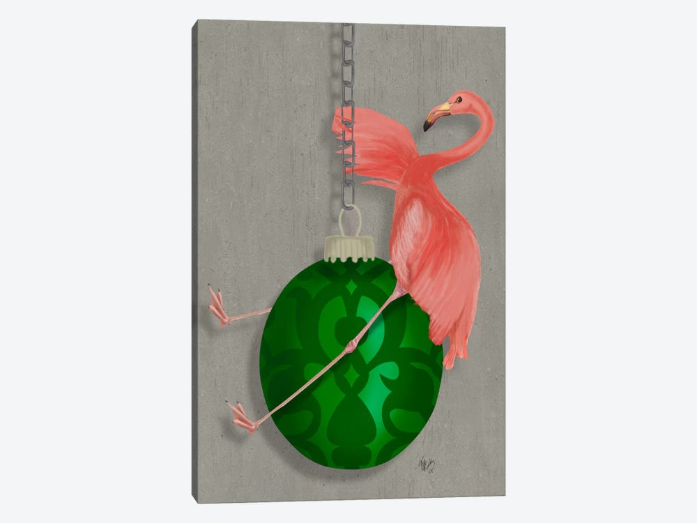Flamingo Wrecking Ball by Fab Funky 1-piece Canvas Art