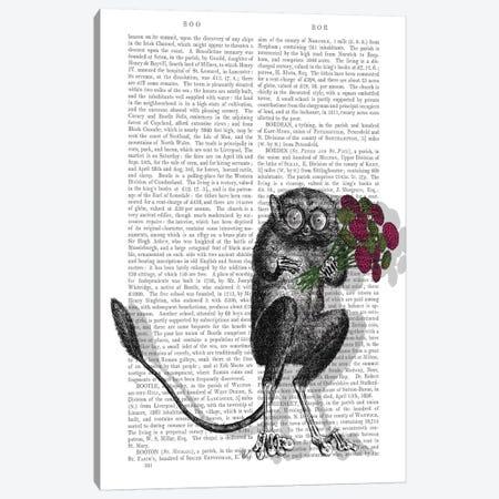 Freaky Flowers, Print BG Canvas Print #FNK647} by Fab Funky Canvas Art Print
