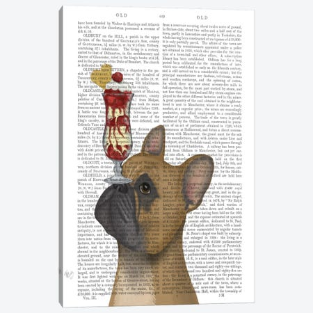 French Bulldog Ice Cream, Print BG Canvas Print #FNK649} by Fab Funky Canvas Art