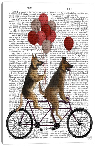 German Shepherd Tandem, Print BG Canvas Art Print