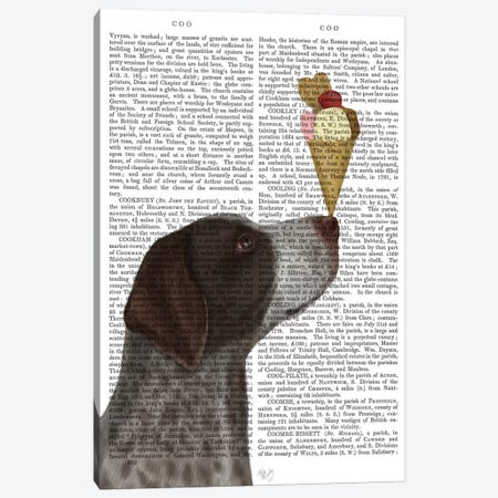 German Shorthaired Pointer Ice Cream, Print BG Canvas Print #FNK669} by Fab Funky Canvas Wall Art