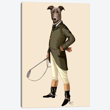 Greyhound Rider Canvas Print #FNK682} by Fab Funky Canvas Wall Art