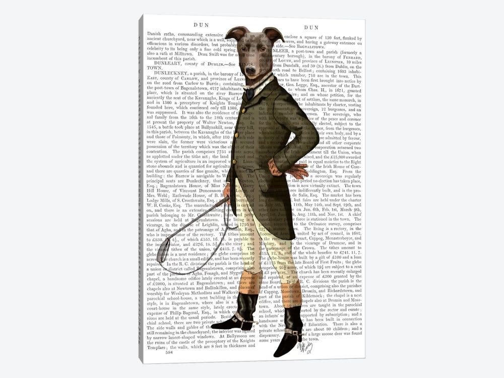 Greyhound Rider, Print BG by Fab Funky 1-piece Art Print