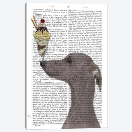 Greyhound, Grey, Ice Cream, Print BG Canvas Print #FNK685} by Fab Funky Art Print