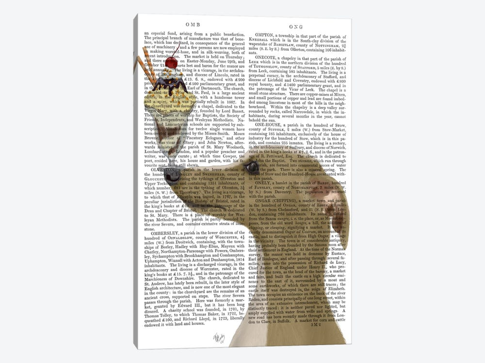 Greyhound, Tan, Ice Cream, Print BG 1-piece Art Print