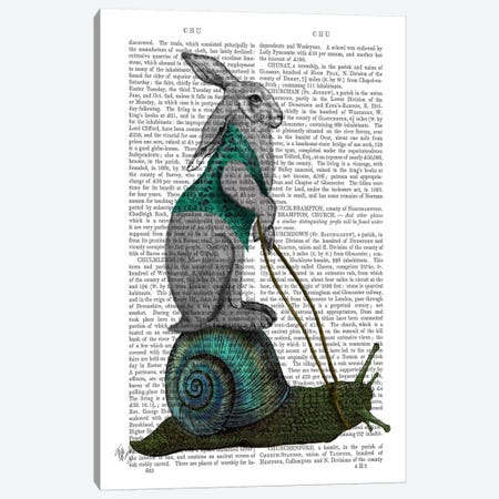Hare and Snail Canvas Print #FNK689} by Fab Funky Canvas Wall Art