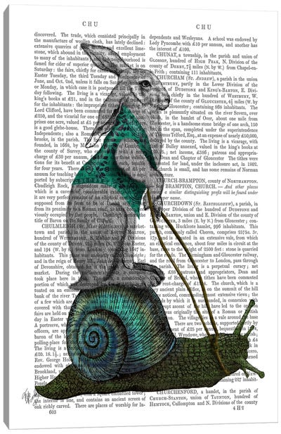 Hare and Snail Canvas Art Print