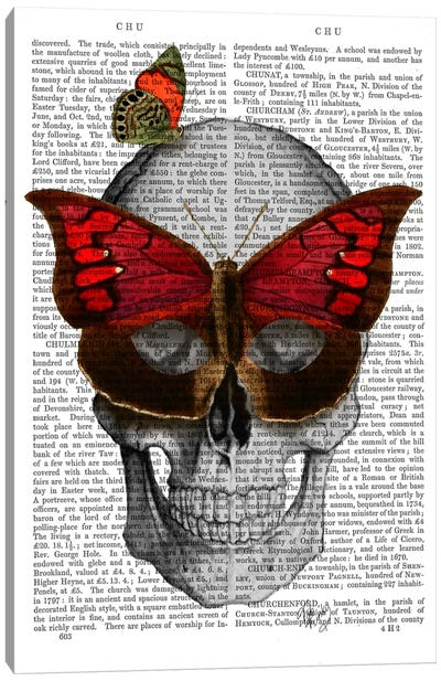 Pink Butterfly Mask Skull Canvas Print #FNK68
