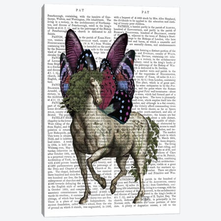 Horse with Butterfly Wings Canvas Print #FNK692} by Fab Funky Canvas Print